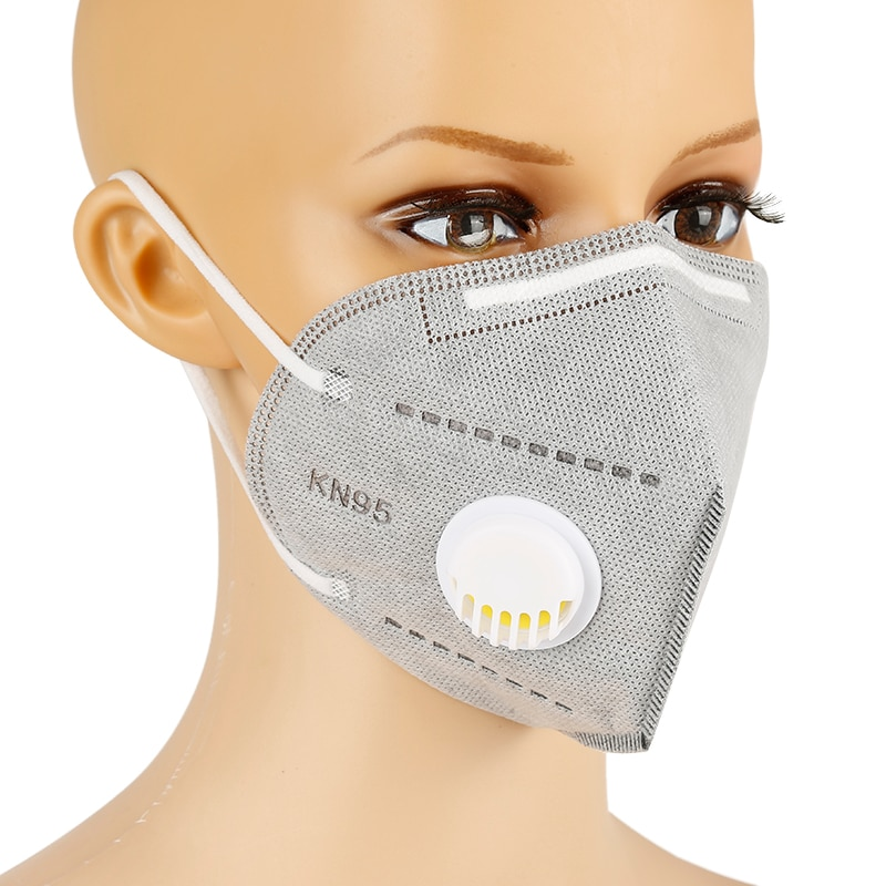 1/5/10/20/50/100 pcs KN95 Face Mask With Breathing Valve Dust Masks With Valved Face Mask Face Equivalent to FFP2 close to FFP3