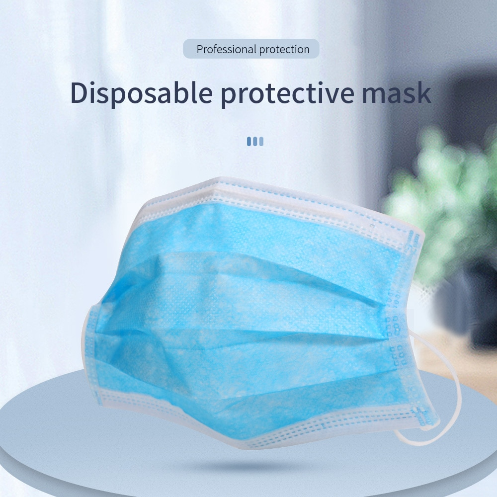 Fast Delivery Face Mask Disposable 7 Days For Spain Medical Surgical Mask Non-woven Fabric 3 Layer Filter Mouth Ear Hook Mask